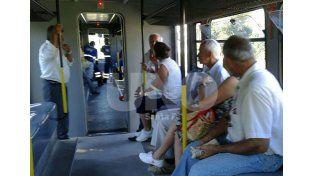 El primer viaje del Tren Urbano.