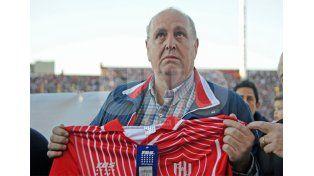 El presidente Luis Spahn cargó contra el representante del charrúa / Foto: Manuel Testi - Uno Santa Fe