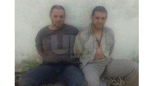 Deteriorados. Así se encontraban este lunes Cristian Lanatta y Victor Schillaci al ser detenidos por las TOE.