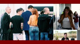 Las súper curvas de Antonella Roccuzzo en su llegada a Zurich junto a Messi