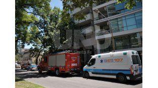 Minutos de pánico por un incendio en un edificio céntrico