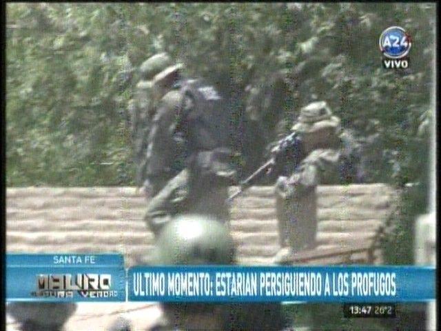 Mirá en vivo: continúa un fuerte operativo en Helvecia para dar con los prófugos