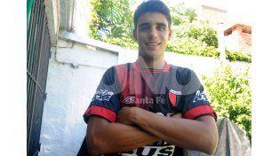 El delantero Nicolás Leguizamón tuvo un cierre de año a puro gol y se ilusiona con poder debutar en Primera División. Foto: José Busiemi / Diario UNO Santa Fe