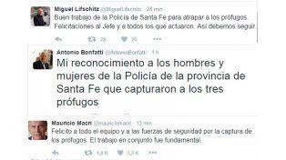Tras el operativo el gobernador de la provincia felicitó a la policía
