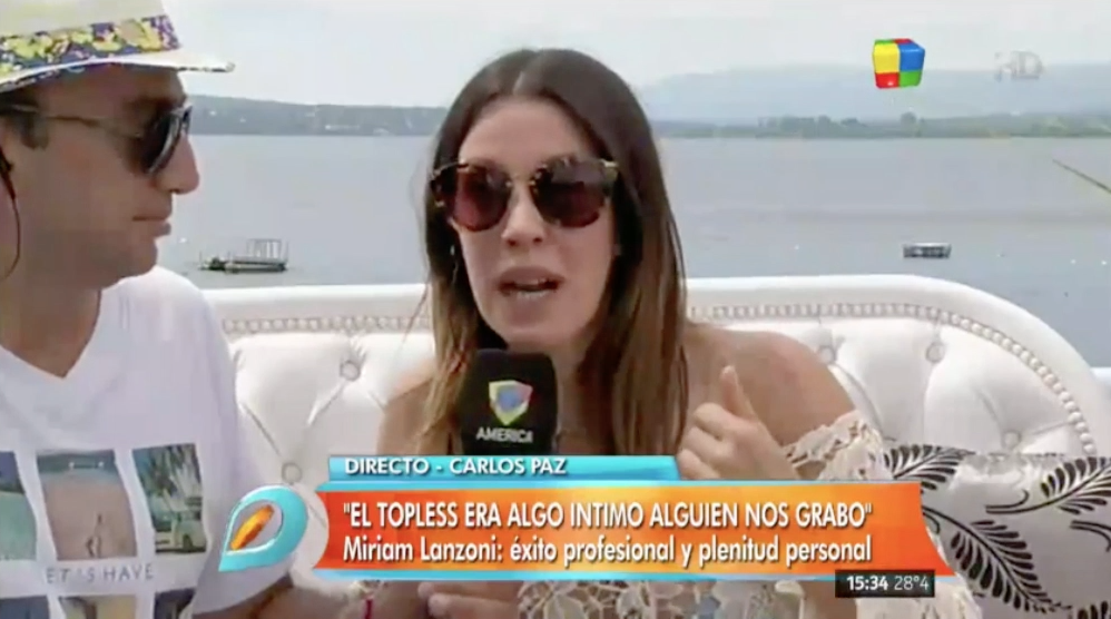 Miriam Lanzoni: Me molesta que no respeten mi intimidad