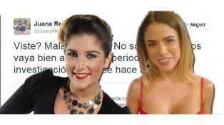 Guerra intrusa: Picante tweet de Juanita Repetto contra Marina Calabró