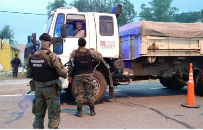 Est mañana continuaban los intensos operativos en la ruta nacional 19. (Foto: Twitter Sebastián Domenech)
