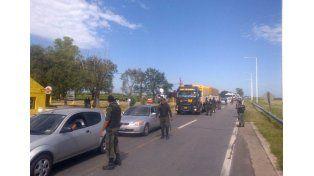 Los operativos de tránsito a cargo de Gendarmería en la zona de Frank.
