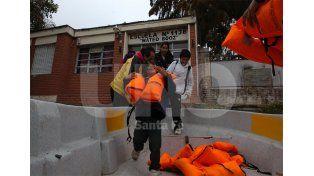 Pensando en febrero. Ya están previstas las tareas de limpieza y desinfección de las aulas / Foto: José Busiemi - Uno Santa Fe