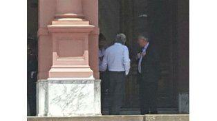 ¿Qué hacían los dirigentes de AFA en la Casa Rosada?