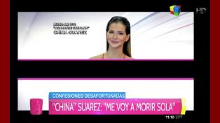 """La """"China"""" Suárez: """"Soy enamoradiza y no lo niego"""""""