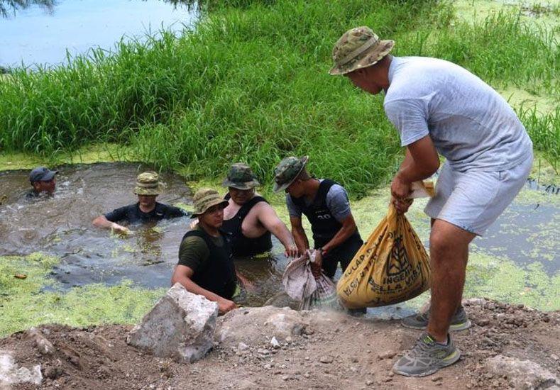 Los trabajos realizados durante el fin de semana. Gentileza Prensa Municipalidad de Santo Tomé