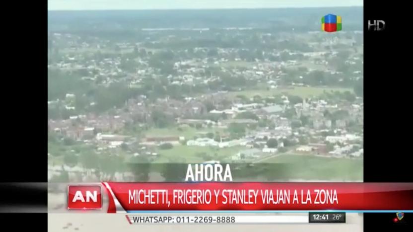Inundaciones: Michetti viajó hacia Entre Ríos junto con dos ministros