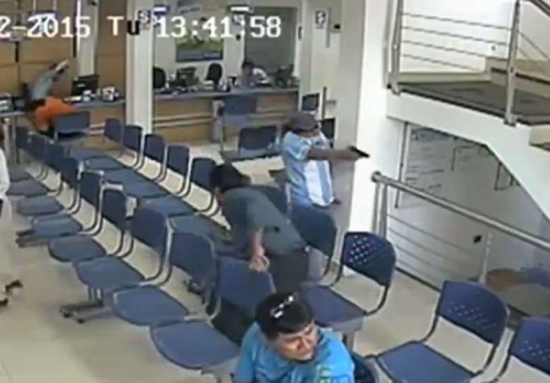 Así robaron un banco y mataron a un guardia en Perú