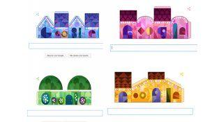 Google lanzó un doodle recortable para la Navidad