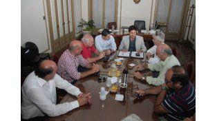 El ministro de Seguridad recibió a autoridades de Colón, Unión y Atlético de Rafaela