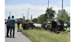 El accidente ocurrió esta mañana en Circunvalación y Acceso Sur. (Foto:V: Benedetto)