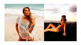 Las sensuales fotos de Coki Ramírez y Floppy Tesouro en la playa