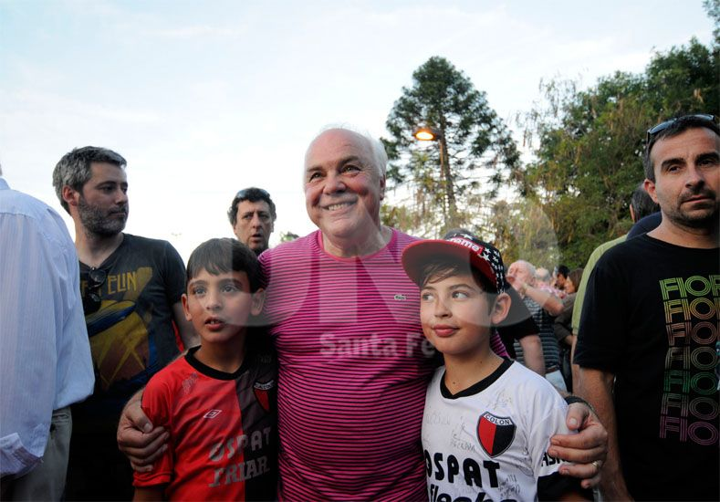 La alegría de Marcelo Ferraro cuando ya había sido confirmado como presidente electo de Colón / Foto: Mauricio Centurión - Uno Santa Fe
