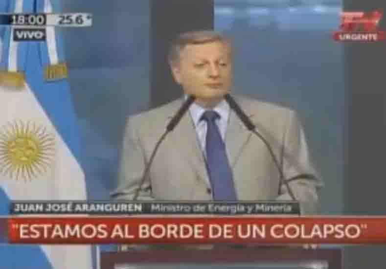 El ministro Juan José Aranguren declaró la emergencia energética hasta 2017