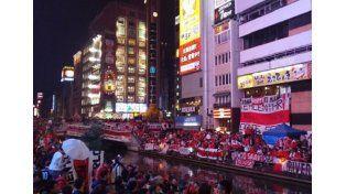 Impresionante banderazo de los hinchas de River en Japón