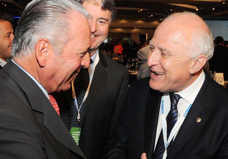 El gobernador Miguel Lifschitz con el vicepresidente 1° de la UIA