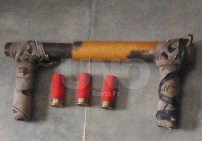 El arma de fabricación cacera.