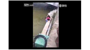 Salvaje castigo de una madre: amenazó a su hija con ahogarla en un río