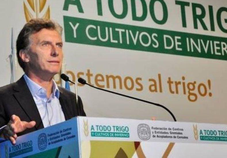 Macri anunció la eliminación de las retenciones al campo