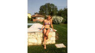 ¡Es una bomba! La novia de Schelotto la rompe en Instagram