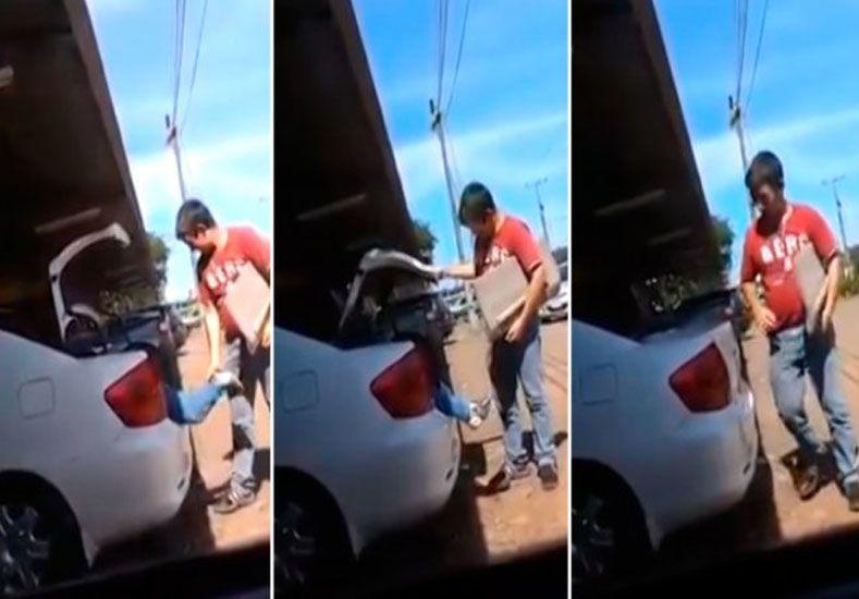 La imagen que conmociona al Paraguay: metieron a un nene en el baúl del auto
