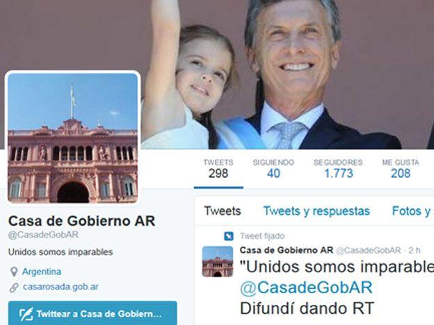 Casa Rosada tiene nuevo perfil de Twitter
