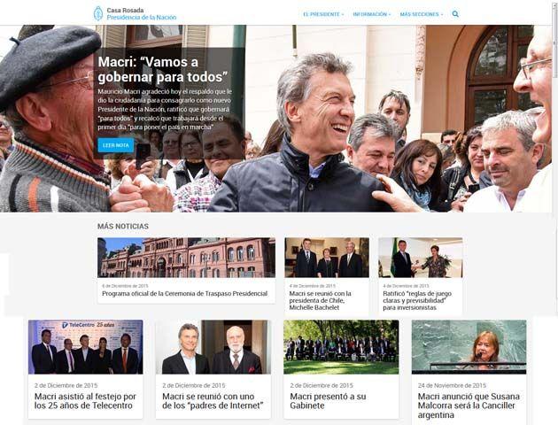 La nueva web de la casa de gobierno con una renovada imagen funciona a partir de hoy.