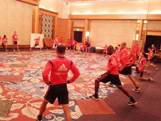 River se entrenó en Japón a la espera del debut en el Mundial de Clubes