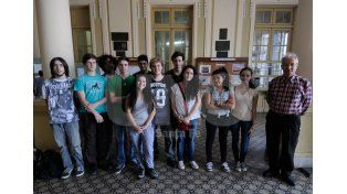 Interés. Los jóvenes que impulsaron el proyecto están muy entusiasmados. Foto: UNO de Santa Fe/José Busiemi