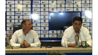 Angelici brindó anoche una conferencia de prensa tras conocerse el triunfo.