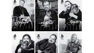 Sacerdotes y gatos para el calendario 2016