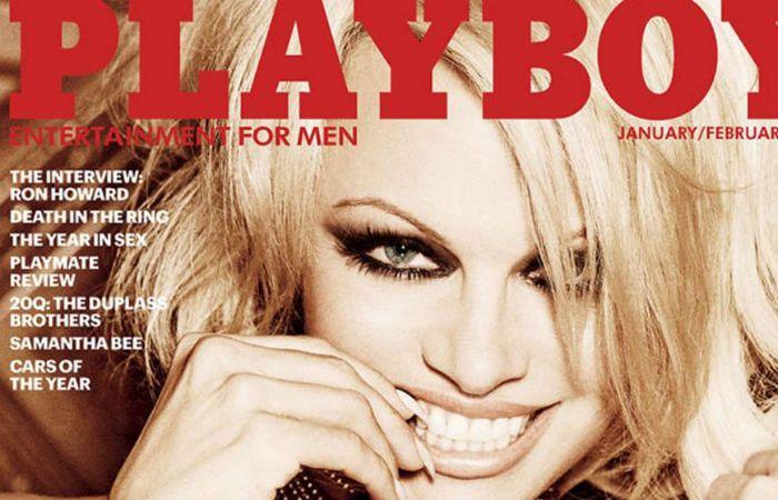 Pamela aparece en la portada de la edición enero-febrero 2016 de Playboy.