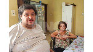 Héctor Baudino y su mamá