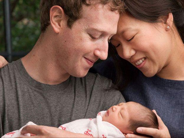 Zuckerberg fue padre de una niña y donó su fortuna