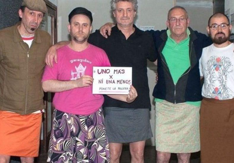 6e052b5a4 Los hombres se ponen polleras para luchar contra los femicidios