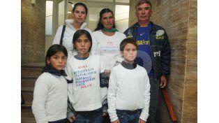 La familia de Ana María Acevedo./ Manuel Testi.