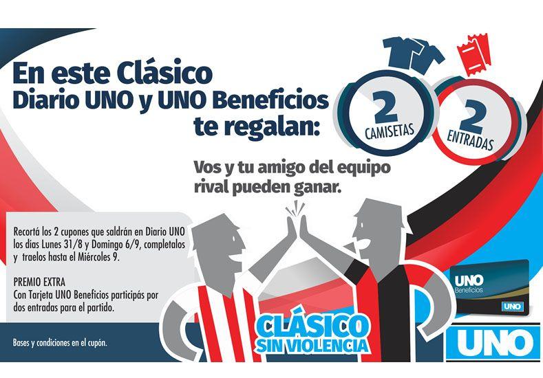 En este clásico, Diario UNO y UNO Beneficios te regalan dos camisetas y dos entradas