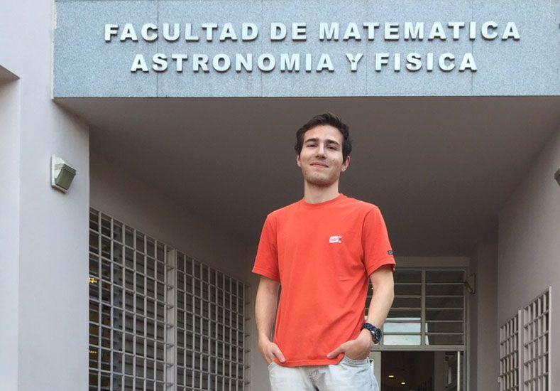 Dos meses estuvo el adolescente en la Universidad Nacional de Córdoba preparándose para la competencia que se realizará en Bolivia.