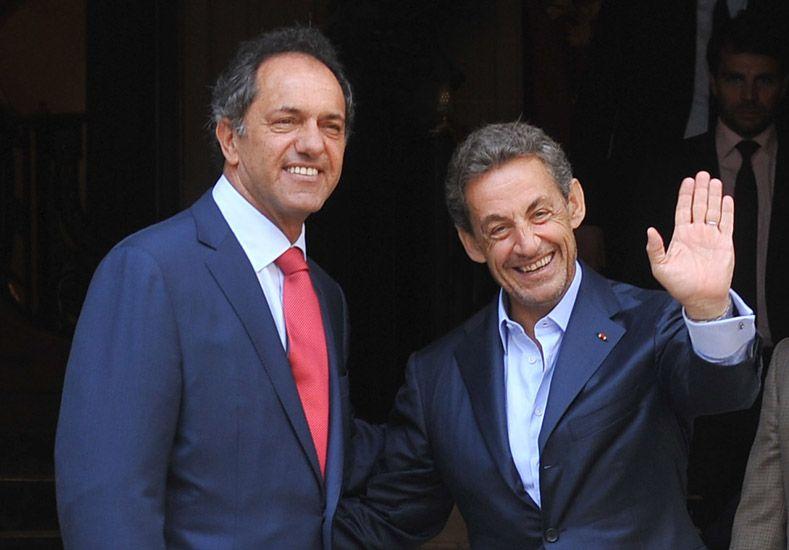 Scioli se reunió con Sarkozy y hablaron sobre causa Malvinas