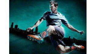 Los nuevos botines de Messi causan furor en Rosario