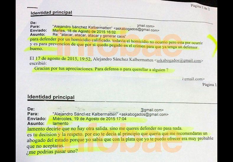 Estos son los mails que Fernando Farré habría enviado a abogados anticipando el asesinato