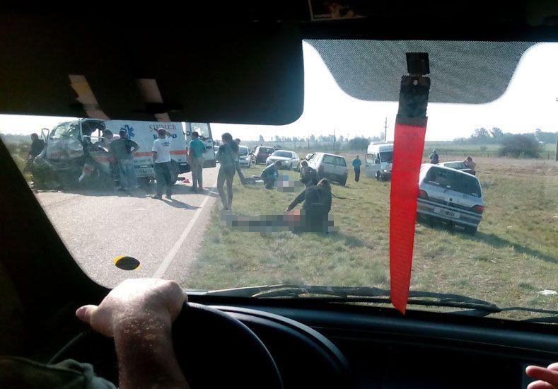 Entre Ríos: cinco muertos tras un grave accidente en Hernández