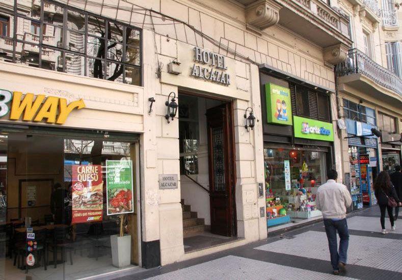 El hotel donde se detuvo al holandés./ Prensa Afip.