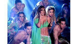 Se mostró muy sensual en el papel de Britney Spears